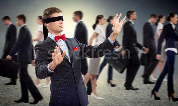 小さな 目隠し 男 腕 見える 方法 ストックフォト © adam121
