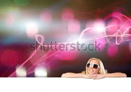 小さな 魅力のある女性 ビキニ バナー 画像 ストックフォト © adam121