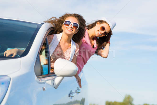 young attractive woman in sunglasses Stock photo © adam121