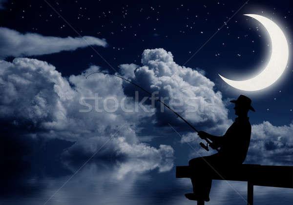 Fishing at night Stock photo © adam121