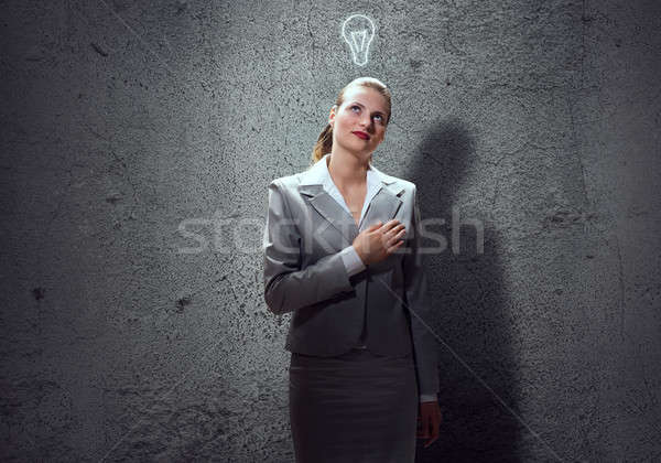 Thoughtful businesswoman Stock photo © adam121