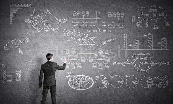 Hombre escrito negocios plan empresario Foto stock © adam121