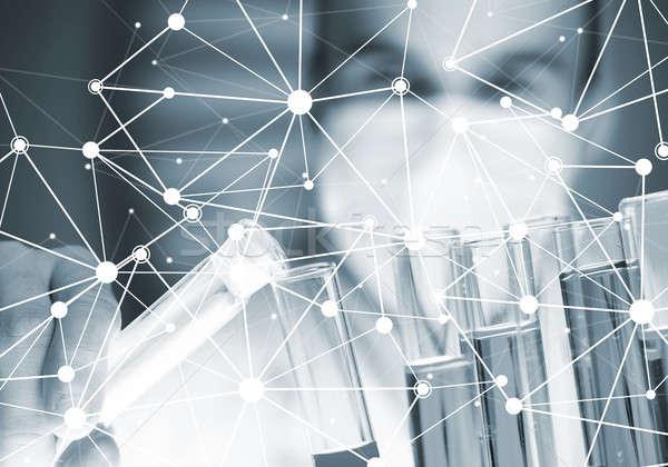 Jonge wetenschapper glas klinisch laboratorium Stockfoto © adam121