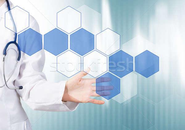 ストックフォト: 現代 · 技術 · 薬 · 女性 · 医師