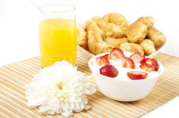 Kahvaltı erken keyifli başlangıç gün gıda Stok fotoğraf © adam121