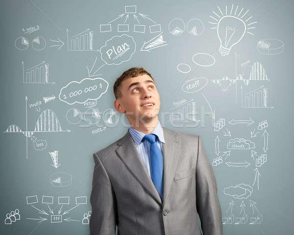 Сток-фото: бизнесмен · мышления · инновация · бизнеса
