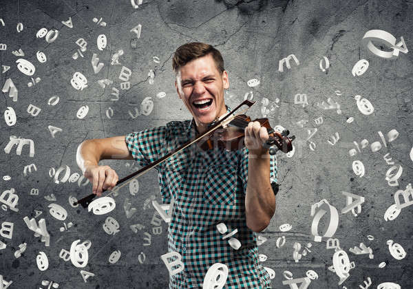 Musician playing violin Stock photo © adam121
