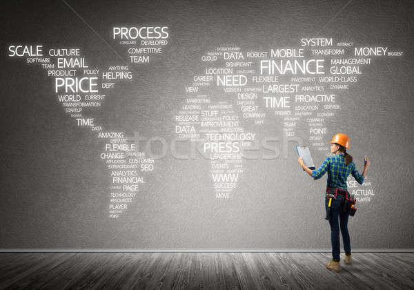 建設 グローバル化 女性 建設作業員 ルーム ビジネス ストックフォト © adam121