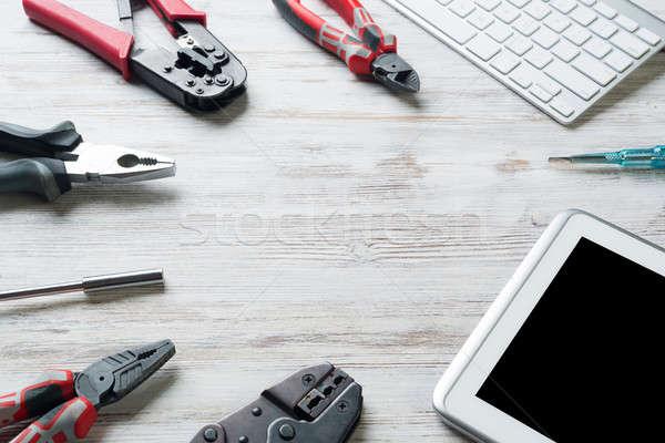 Online dienst om ingesteld industriële Stockfoto © adam121