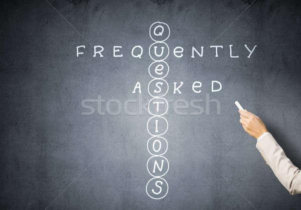 Woman draw crossword Stock photo © adam121