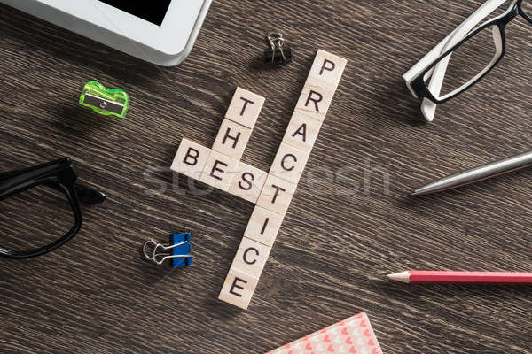Negócio tabela elementos jogo palavras cruzadas Foto stock © adam121