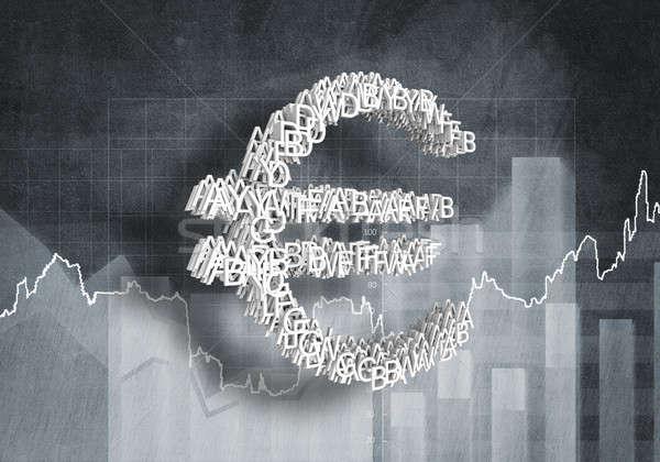 ユーロ 通貨 ビッグ シンボル ストックフォト © adam121