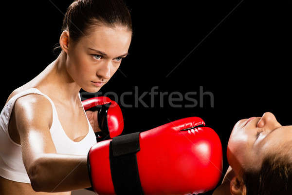 woman boxing Stock photo © adam121