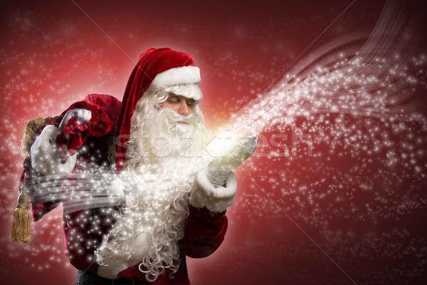 Santa Claus and the magic Stock photo © adam121