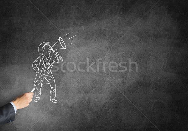 Caricatura hombre médico masculina mano dibujo Foto stock © adam121