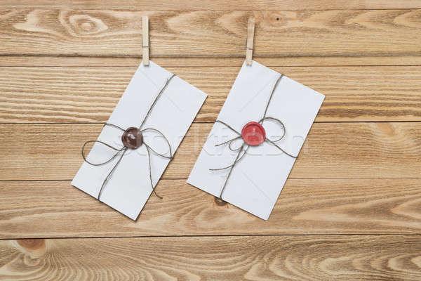 почты конверт веревку подвесной текстуры Сток-фото © adam121