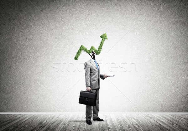 De vendas crescer empresário verde seta Foto stock © adam121
