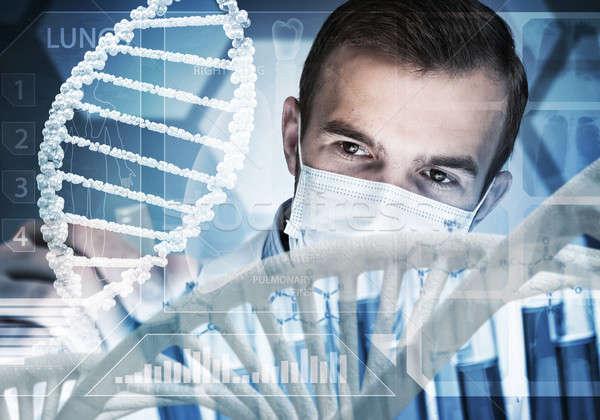 Jonge wetenschapper glas klinisch Stockfoto © adam121