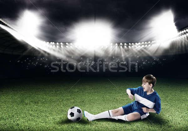 Jóvenes fútbol campeón excitado nino futbolista Foto stock © adam121