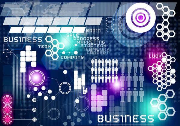 Innovativo digitale business immagine icone Foto d'archivio © adam121
