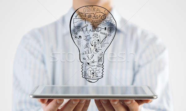 Idea cerca vista empresario negocios Foto stock © adam121