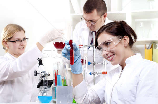 portrait of a group of chemists Stock photo © adam121