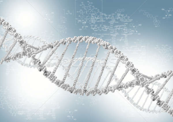 Stock photo: DNA helix against the colored background