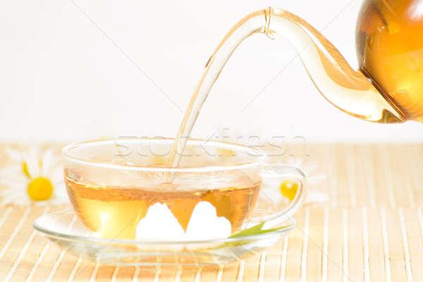 Tazza da tè camomilla tè teiera alimentare Foto d'archivio © adam121