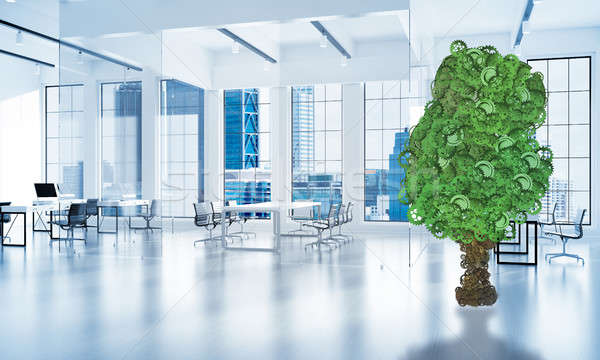 Eco green environment concept presented by tree as working mecha Stock photo © adam121