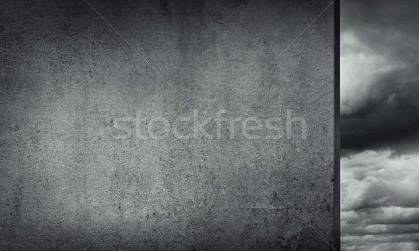 Cement empty banner Stock photo © adam121