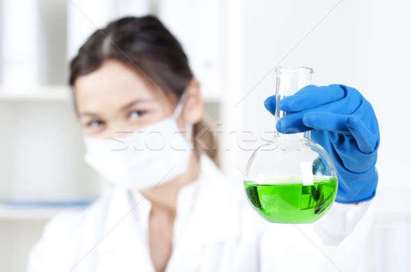 ストックフォト: 肖像 · 化学者 · 作業 · 室 · 科学者