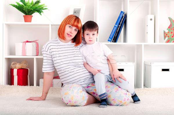матери ребенка портрет беременная женщина сын Сток-фото © adam121