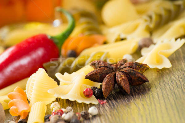 close-up of anise, around the pasta Stock photo © adam121