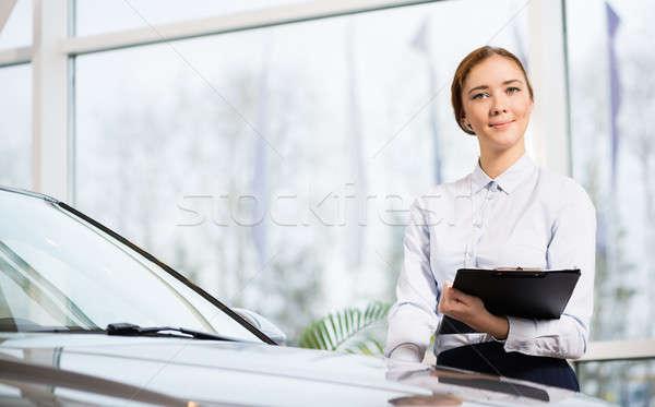 Umsatz Berater zeigen Zimmer stehen Stock foto © adam121