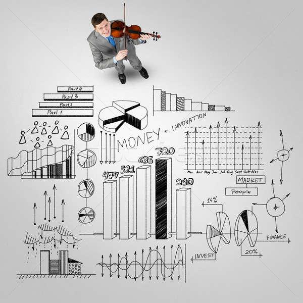 Affaires jouer succès mélodie haut vue Photo stock © adam121