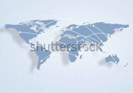 Mappa del mondo immagine globalizzazione interazione abstract mondo Foto d'archivio © adam121