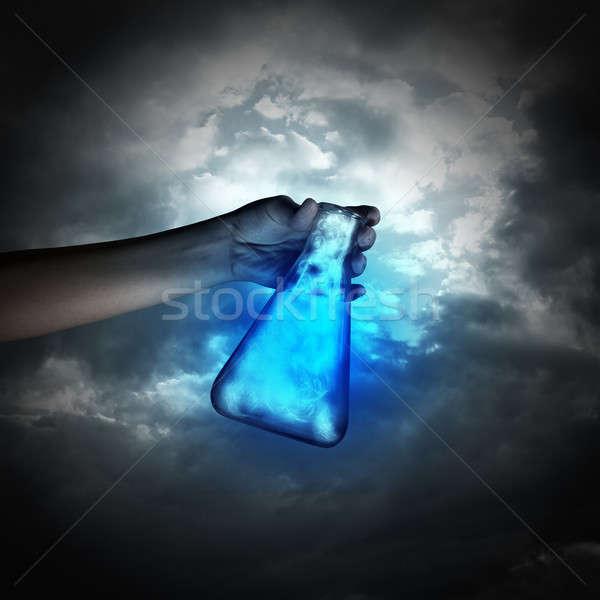 стороны трубка человеческая рука пробирку Сток-фото © adam121