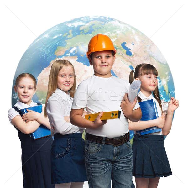Futuro profesión ninos escuela edad diferente Foto stock © adam121