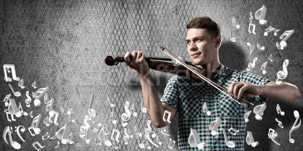 Man violinist Stock photo © adam121