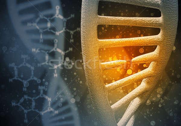 Dna moleculen 3D afbeelding onderzoek Stockfoto © adam121