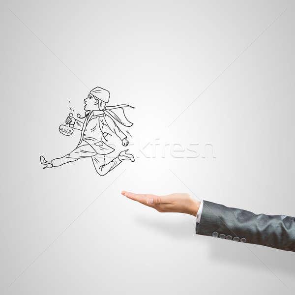 Kobieta interesu dłoni kobiet szary lekarza Zdjęcia stock © adam121
