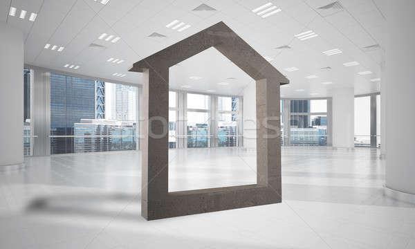 Kép beton otthon felirat modern iroda Stock fotó © adam121