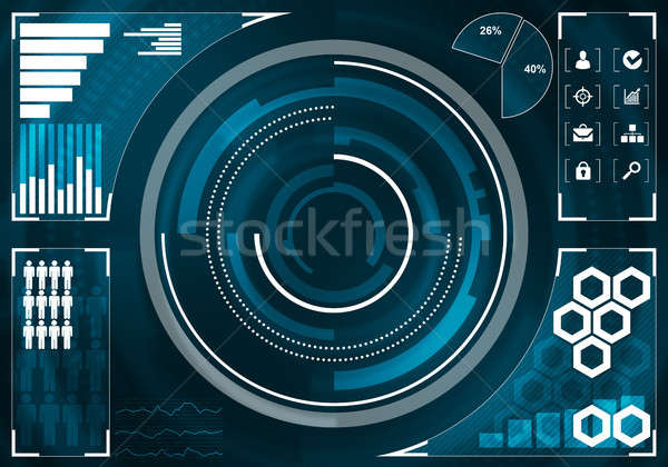 Media interface background Stock photo © adam121