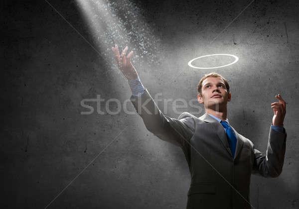 святой бизнесмен молодые красивый гало Сток-фото © adam121
