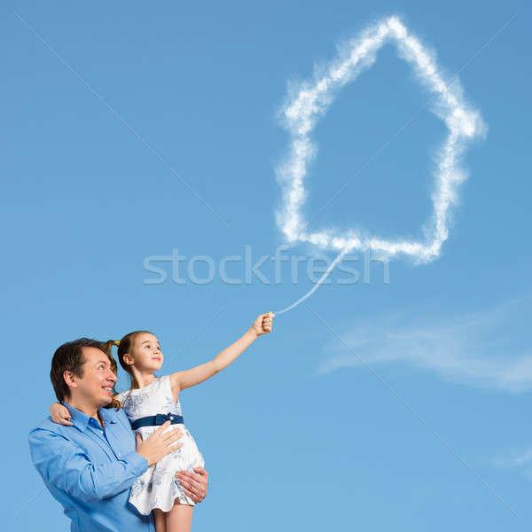 Happy parenting Stock photo © adam121