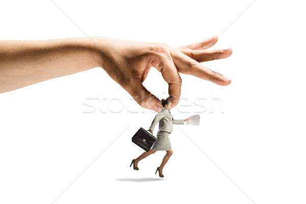 Hand catching woman Stock photo © adam121