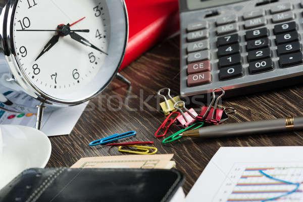 üzlet törik közelkép számológép iratok egyéb Stock fotó © adam121