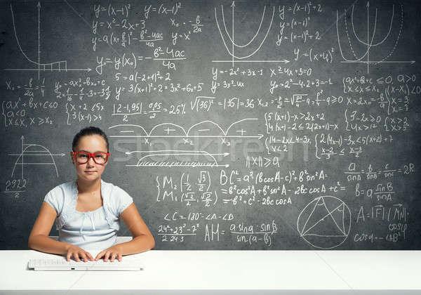 мало школы гений девушки возраст красный Сток-фото © adam121