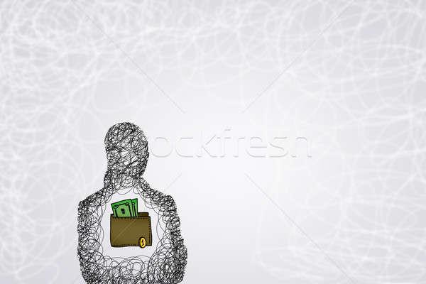 Soldi capacità silhouette uomo d'affari Foto d'archivio © adam121