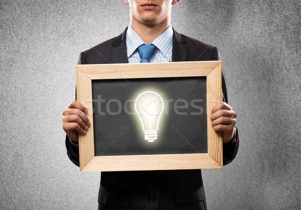 Empresário quadro quadro-negro Foto stock © adam121